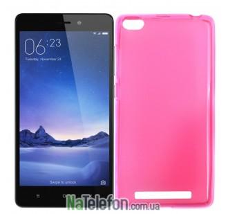 Силиконовый чехол Original Silicon Case Xiaomi Redmi 3 Pink