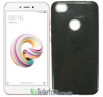 Силиконовый чехол Silicone 3in1 Блёстки для Xiaomi REDMI NOTE 5A Prime Black