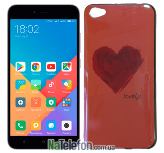 Чехол U-Like Picture series для Xiaomi Redmi Note 5a Heart Pink