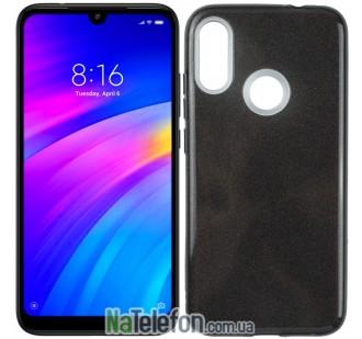 Чехол Silicone 3in1 Блёстки для Xiaomi REDMI Note 7 Black