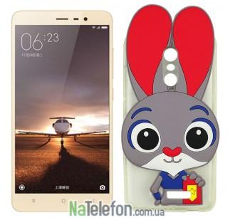 Силиконовый чехол Зверополис Rabbit Xiaomi Redmi Note 3