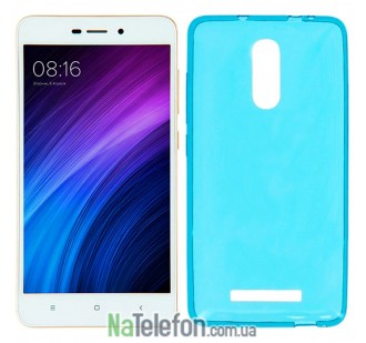 Силиконовый чехол Original Silicon Case Xiaomi Redmi Note 3 Blue