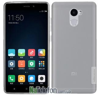 Чехол силиконовый прозрачный NILLKIN Nature TPU Xiaomi Redmi 4 Grey