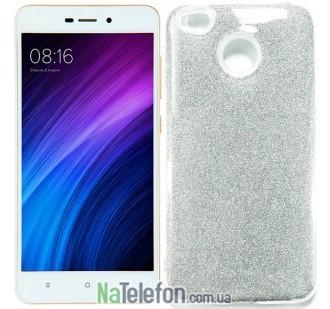 Чехол Silicone 3in1 Блёстки для Xiaomi Redmi 4x Silver