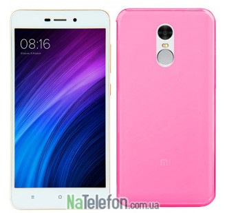 Силиконовый чехол Original Silicon Case Xiaomi Redmi Note 4 Pink
