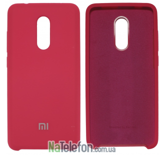 Чехол Original Soft Case для Xiaomi Redmi 5 Plus Ярко малиновый