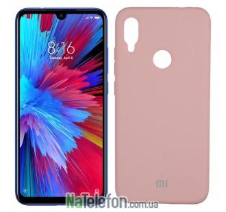 Чехол Original Soft Case на Xiaomi Redmi Note 7 Розовый FULL