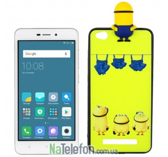 Чехол Cartoon Silicone Case для Xiaomi Redmi 4a Minion