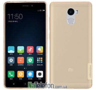 Чехол силиконовый прозрачный NILLKIN Nature TPU Xiaomi Redmi 4 Brown