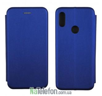 Чехол книжка U-Like Best для Xiaomi Redmi Note 7 Blue