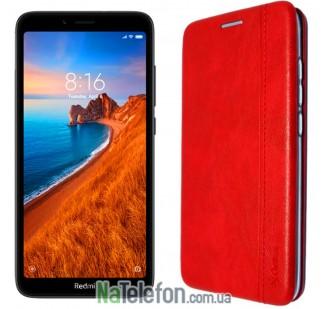Чехол книжка U-Like Best для Xiaomi Redmi 7a Красный
