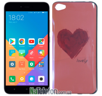 Чехол U-Like Picture series для Xiaomi Redmi Note 5a Love Pink