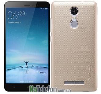 Чехол NILLKIN Super Frosted Shield для Xiaomi Redmi Note 3 Gold