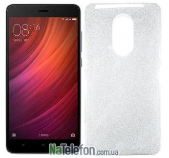 Силиконовый чехол Silicone 3in1 Блёстки для Xiaomi RedMi Note 4x White