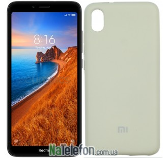 Чехол Original Soft Case для Xiaomi Redmi 7a Светло Серый FULL