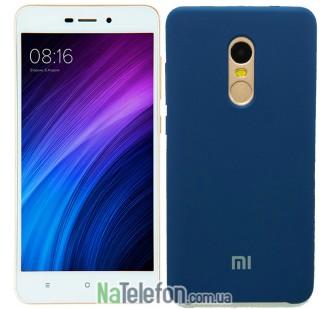 Чехол Original Soft Case для Xiaomi Redmi Note 4x Синий FULL