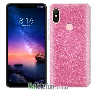 Чехол Silicone 3in1 Блёстки для Xiaomi Redmi 6 Pro/Mi A2 Lite Pink