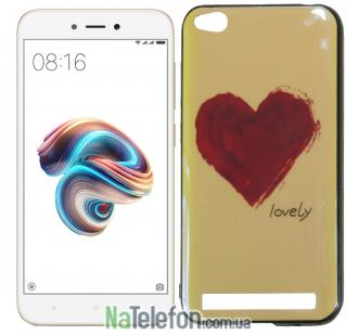 Чехол U-Like Picture series для Xiaomi Redmi 5a/Redmi Go Heart Blue