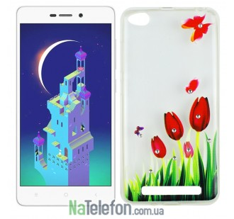 Чехол Lucent Diamond Case для Xiaomi Redmi 3 Tulips (Red)