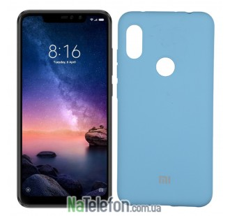 Чехол Original Soft Case для Xiaomi Redmi Note 6 Pro Ярко Синий FULL