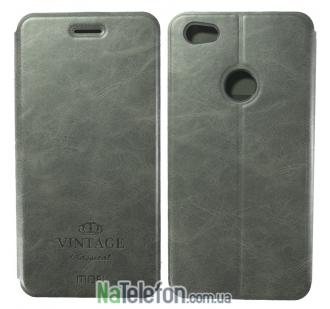 Кожаный чехол (книжка) MOFI Vintage Series для Xiaomi Redmi Note 5A Prime / Redmi Y1 (Темно-серый)