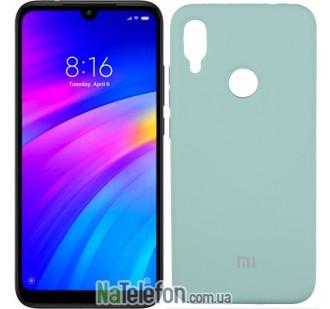 Чехол Original Soft Case для Xiaomi Redmi Note 7 Светло-Голубой FULL