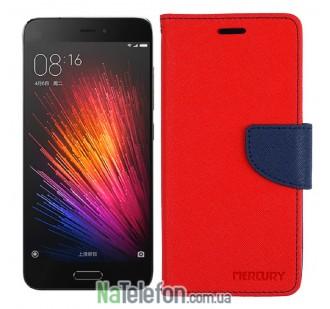 Чехол книжка Goospery для Xiaomi Mi5 Red