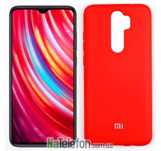 Чехол силиконовый оригинальный для Xiaomi Redmi Note 8 Pro Красный FULL