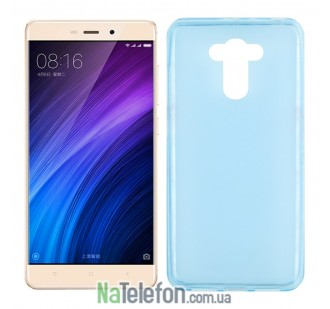 Силиконовый чехол Original Silicon Case Xiaomi Redmi 4/4 Prime Blue
