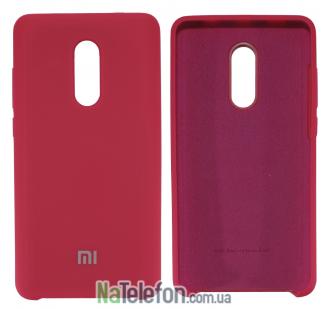 Чехол Original Soft Case для Xiaomi Redmi Note 4x Ярко малиновый
