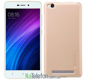 Чехол NILLKIN Super Frosted Shield для Xiaomi Redmi 4a Gold