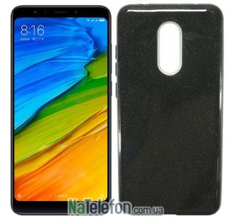 Силиконовый чехол Silicone 3in1 Блёстки для Xiaomi Redmi 5 Plus Black