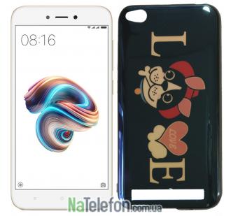 Чехол U-Like Picture series для Xiaomi Redmi 5a/Redmi Go Love Balck