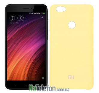 Чехол Original Soft Case для Xiaomi Redmi 4x Ярко Салатовый