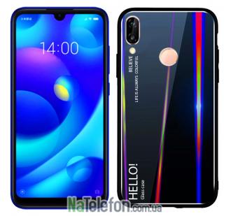 TPU чехол Gradient Aurora Glass для Xiaomi Mi Play (Black)