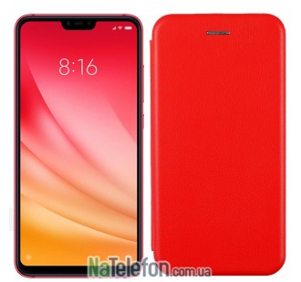 Чехол книжка U-Like Best для Xiaomi Mi8 Lite Red
