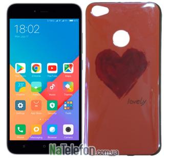 Чехол U-Like Picture series для Xiaomi Redmi Note 5a Prime Heart Pink
