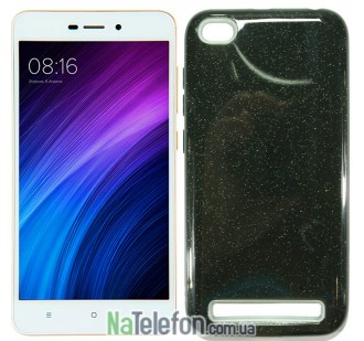 Силиконовый чехол Silicone 3in1 Блёстки для Xiaomi Redmi 5a/Redmi Go Black