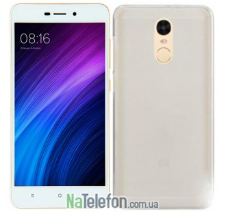 Силиконовый чехол Original Silicon Case Xiaomi Redmi Note 4 White