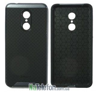 Накладка iPaky (OR) Carbon TPU + Bumper for Xiaomi Redmi 5 Grey