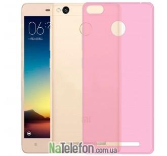 Силиконовый чехол Original Silicon Case Xiaomi Redmi 3x/3s/3 Pro Pink