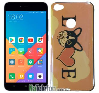 Чехол U-Like Picture series для Xiaomi Redmi Note 5a Prime Love Pink