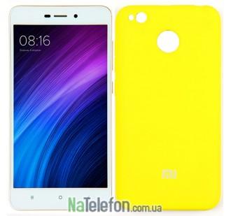 Чехол Original Soft Case для Xiaomi Redmi 4x Ярко желтый FULL