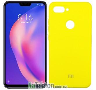 Чехол Original Soft Case для Xiaomi Mi8 Lite Желтый