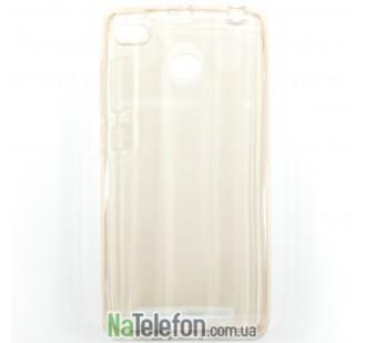 Ультра тонкий силиконовый чехол 0.3 mm для Xiaomi Redmi 3s gold