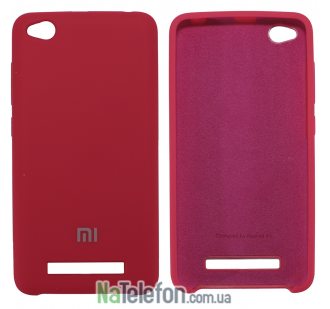 Чехол Original Soft Case для Xiaomi Redmi 4a Ярко малиновый