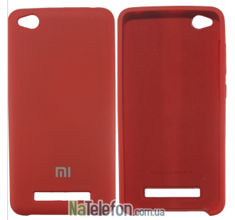 Чехол Original Soft Case для Xiaomi Redmi 4a Красный