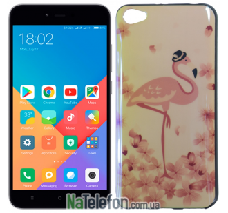 Чехол U-Like Picture series для Xiaomi Redmi Note 5a Flamingo