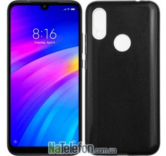 Чехол Silicone 3in1 Блёстки для Xiaomi Redmi 7 Black