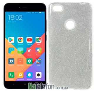 Чехол Silicone 3in1 Блёстки для Xiaomi Redmi Note 5A Prime White
